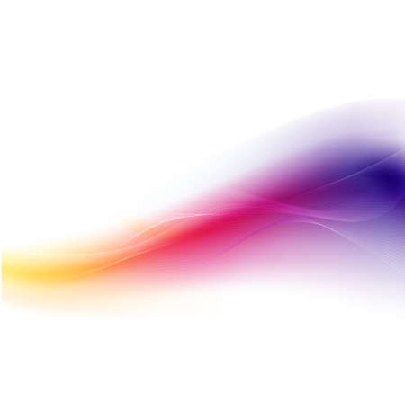abstract waves: Abstract colorful wave flow background Illustration