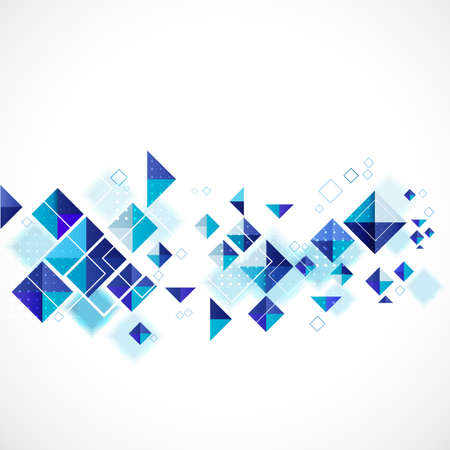 blue abstract modern geometric for business or tech template, vector illustration