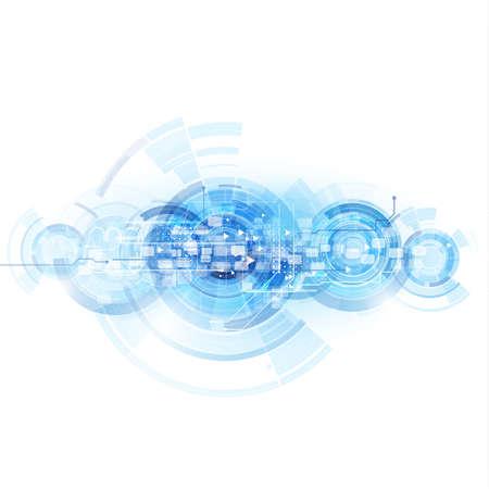 Tecnología digital de plantilla futurista y el espacio para texto, ilustración vectorial