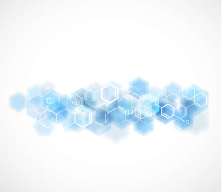 vector  molecular: chemical and molecular concept template background, Vector illustration