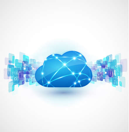 cloud computing with network concept, vector illustration