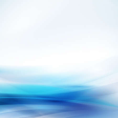 poster presentation: Abstract smooth blue flow background, Vector illustration