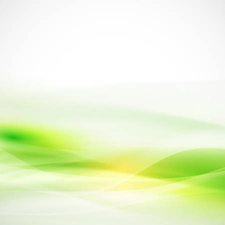 Abstract smooth green flow background, Vector illustration  Ilustrace