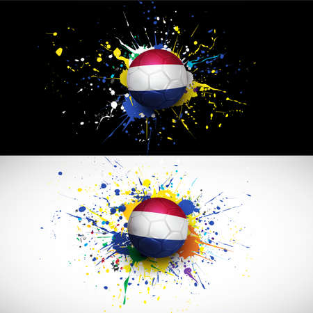 france flag with soccer ball dash on colorful background,