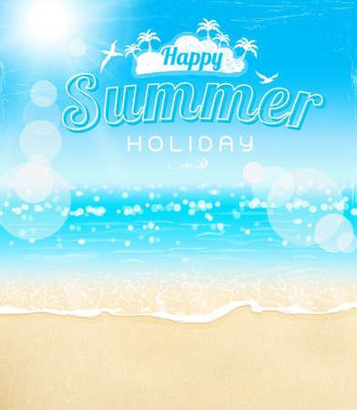 sunshine background: summer beach sand sunshine background, vector illustration