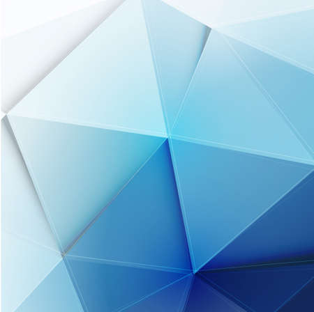 abstract polygon background in blue tone, vector illustration  Иллюстрация