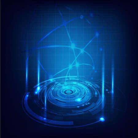 Technology futuristic circuit digital background, Vector illustration