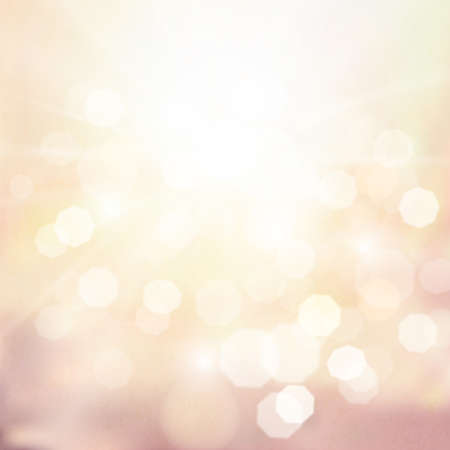 sunshine background: Classic sunshine and Bokeh background Vintage tone Illustration