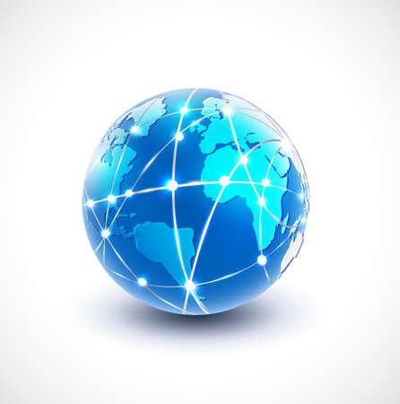 World network communication and technology illustration