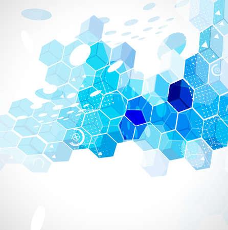 abstracte zeshoek tech achtergrond afbeelding Stock Illustratie