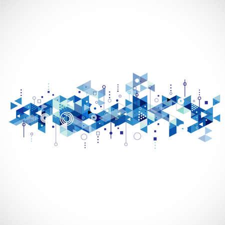 futuristic: Abstract creative blue triangle template, vector illustration