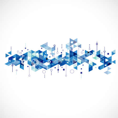 Abstract creative blue triangle template, vector illustration