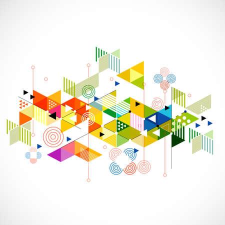 Abstraktní barevné a tvůrčí trojúhelník na pozadí, vektorové ilustrace