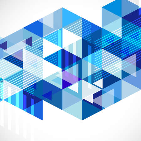 Modern blue geometrical abstract template for business or tech, Vector illustration