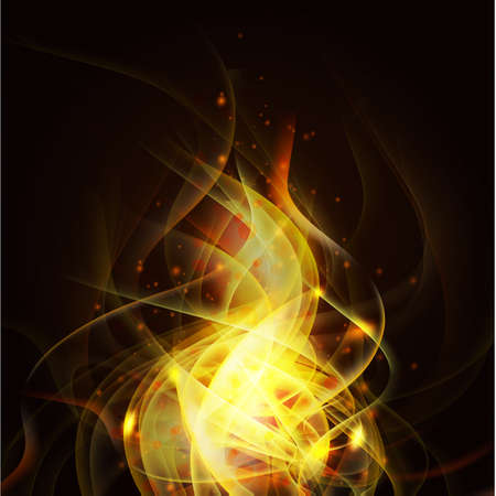 fire isolate on the black background and space for text, Vector illustration