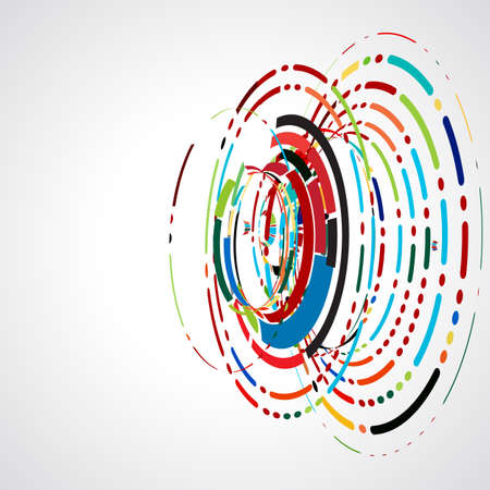 spiral: abstract swirl line futuristic graphic template for corporate tech and business concept, vector illustration