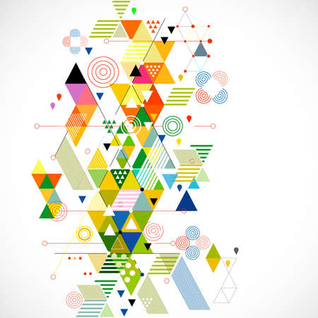 geometric shapes: Abstract colorful and creative geometric background, vector illustration