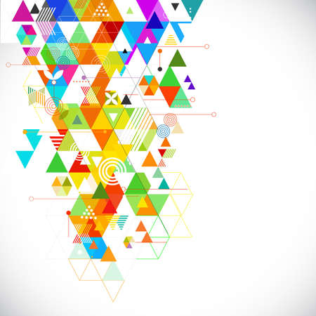 Abstract geometrical colorful template for corporate business, flyer, bochure, baner, cover. vector illustration Çizim