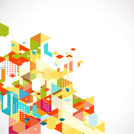 Abstract colorful and creative geometric template and space for text for corporate business, vector illustration
