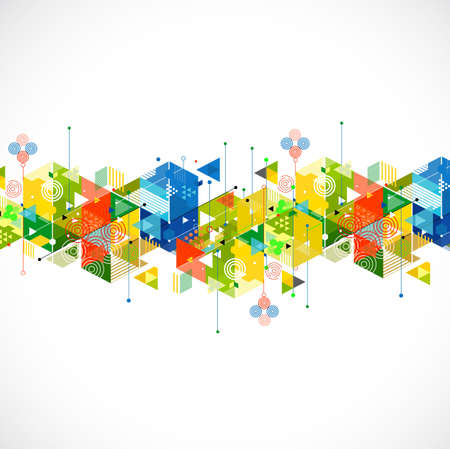 Abstract colorful and creative geometric template for corporate business, vector illustration
