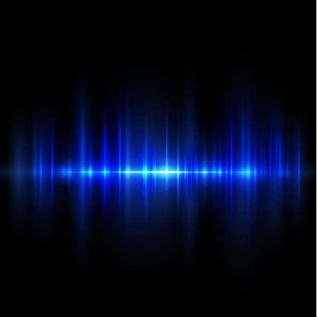 Abstract stroken lichtblauw isoleren op zwarte achtergrond