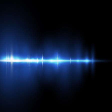 抽象的なベクトル図の黒の背景に青い光の分離をストリップします。  イラスト・ベクター素材