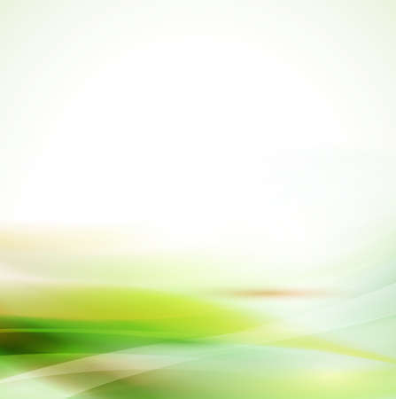 smooth: Abstract smooth green flow background Illustration