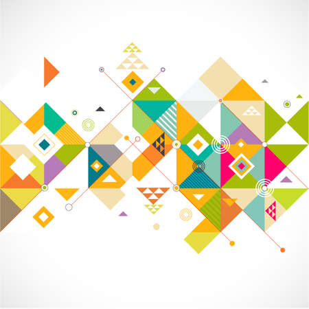 Abstract colorful and creative triangle background, vector illustration