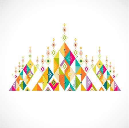 geometric pattern Thai art style template, vector illustration
