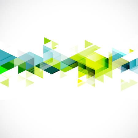 Iş veya teknoloji tanıtımı vektör gösterim amacıyla Özet üçgen, modern şablon