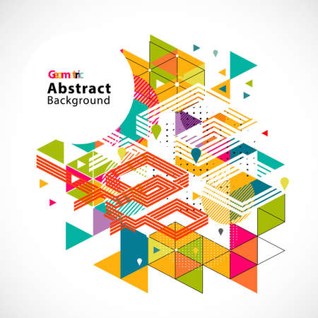 Abstract colorful and creative geometrical background vector illustration