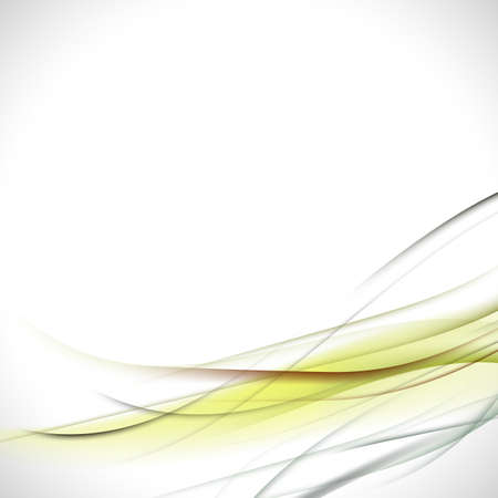 elegant design: abstract colorful green curve background vector illustration