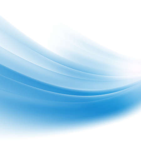abstract smooth blue wave background isolate on white background vector illustration Illustration