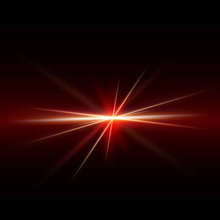 Abstract spark and light strips red tone on middle background, vector illustration