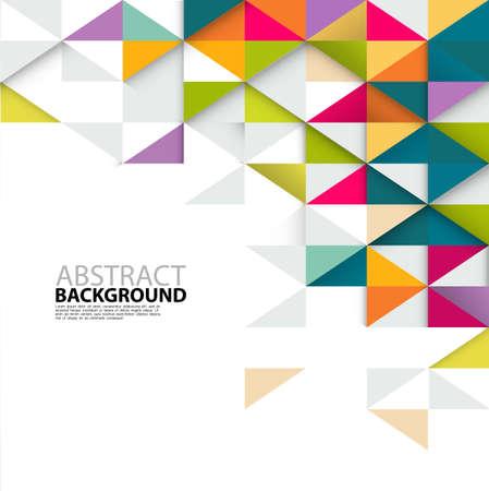 ビジネスや技術のプレゼンテーション、ベクトル図の抽象的なカラフルな三角形モダンなテンプレート