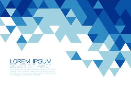 fondo geometrico: Triángulo azul plantilla moderna abstracto para la presentación de negocios o tecnología, ilustración vectorial Vectores