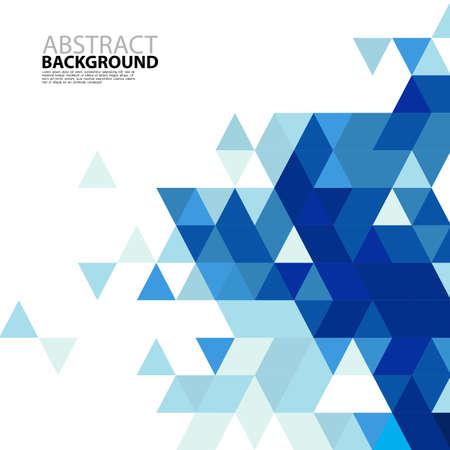 Triángulo azul plantilla moderna abstracto para la presentación de negocios o tecnología, ilustración vectorial