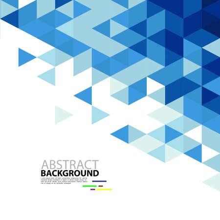 Abstracte blauwe driehoek moderne sjabloon voor zaken of technologie presentatie, vector illustratie Stock Illustratie