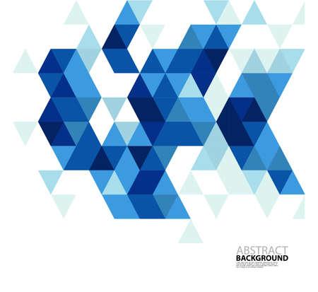 비즈니스 또는 기술 프레젠테이션 추상 파란색 삼각형 현대 템플릿, 벡터 일러스트 레이 션 일러스트
