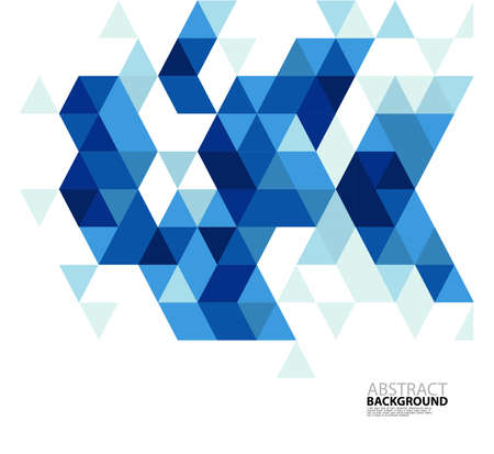 Abstract blue triangle modern template for business or technology presentation, vector illustration