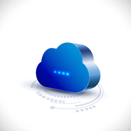 cloud technology: cloud computing icon for communication and technology, vector illustration Illustration