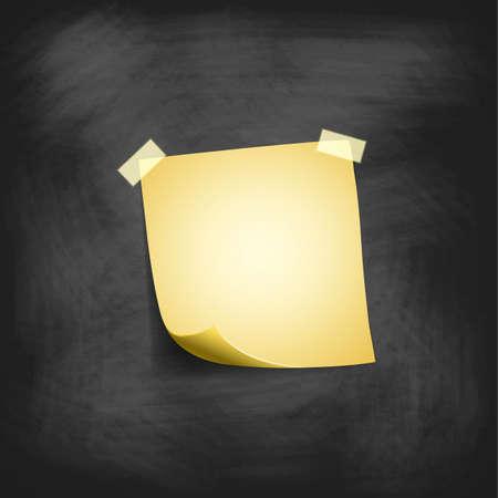 nota de papel: bloc de notas en blanco aislado en la pizarra, ilustración vectorial Vectores