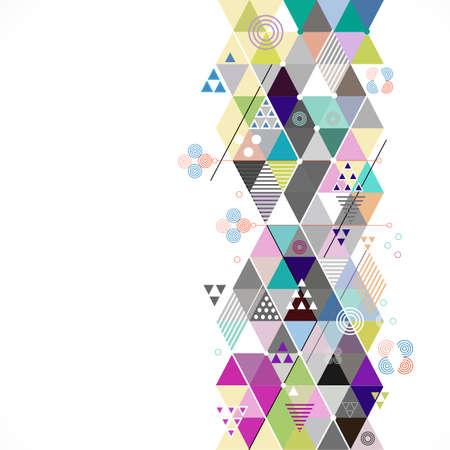 Astratto colorato e creativo sfondo geometrico, illustrazione vettoriale Archivio Fotografico - 45154905