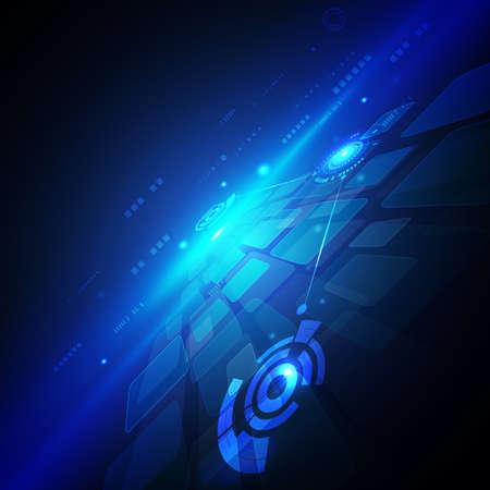 future background: technology circuit futuristic background, vector illustration Illustration