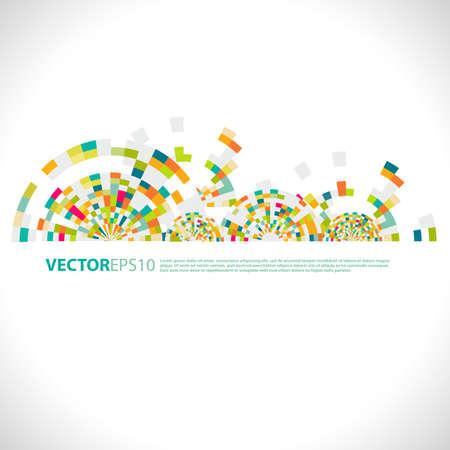 futuristische kleurrijke cirkel en ruimte met creatieve geometrisch patroon, vector illustratie
