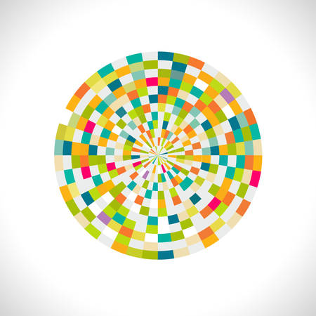 concentric: Abstract spectrum circle with creative geometric pattern, vector illustration Illustration