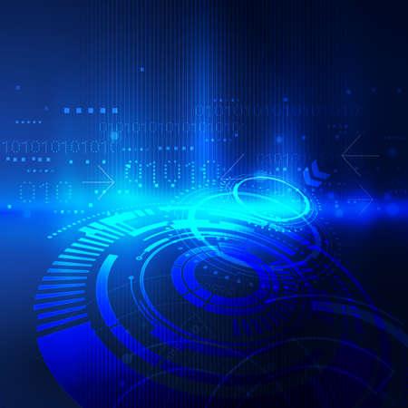 Astratta tecnologia futuristica con il circuito e il concetto sfondo digitale, illustrazione vettoriale