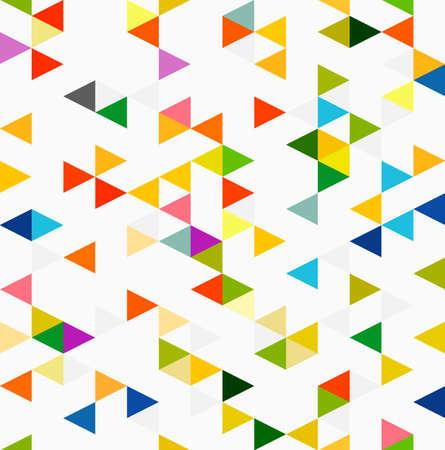 triangle pattern: colorful triangle geometric pattern, seamless background, illustration