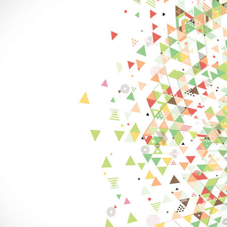 beside: abstract creative mix geometrical with flow shape on beside part, vector illustration Illustration