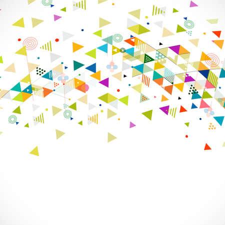 forme geometrique: Résumé motif géométrique coloré et créatif avec la forme de l'arbre, illustration vectorielle